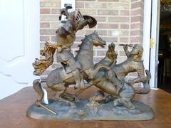 Sculpture of a battle of two warriors