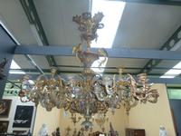a large Louis-Philippe gilded bronze chandelier