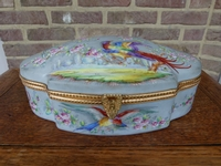 A French porcelain hand painted box.